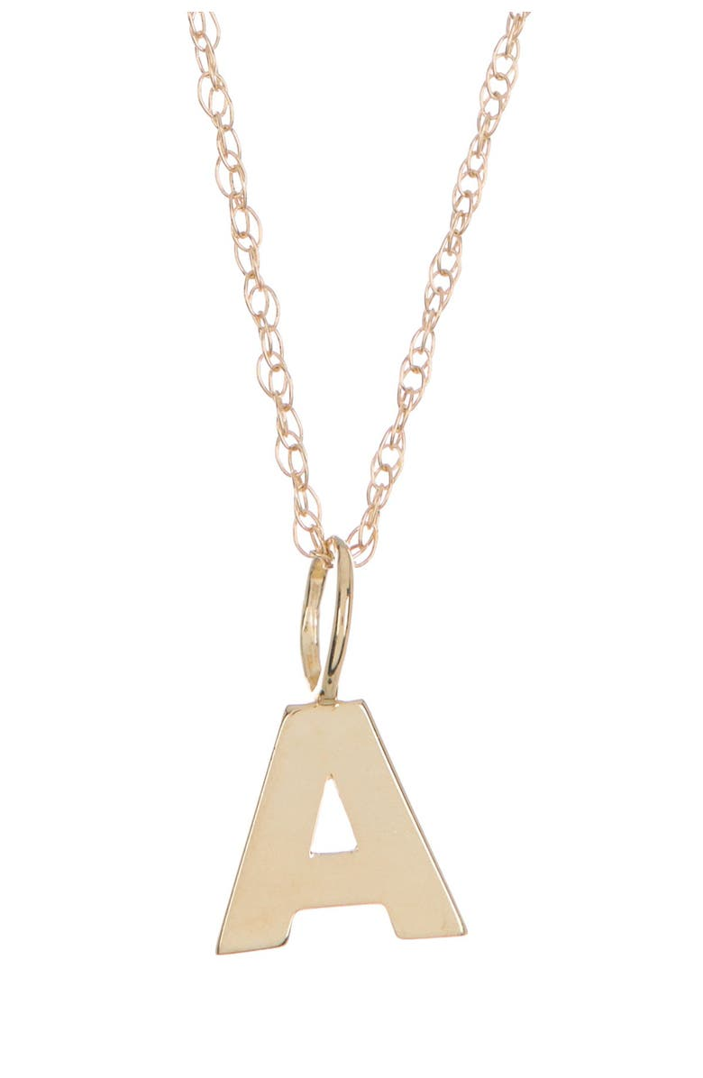 CANDELA JEWELRY 10K Yellow Gold Iniital Pendant Necklace, Main, color, GOLD