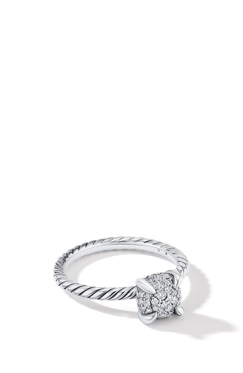 DAVID YURMAN Chatelaine<sup>®</sup> Ring in Silver Pave with Full Pavé Diamonds, Main, color, DIAMOND