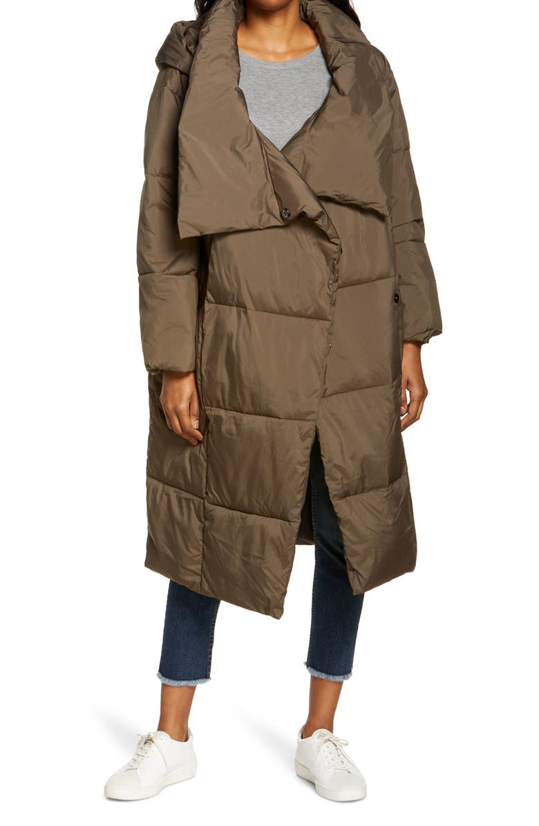 UGG<SUP>®</SUP> Catherina Water Resistant Hooded Puffer Coat, Main, color, EUCALYPTUS SPRAY