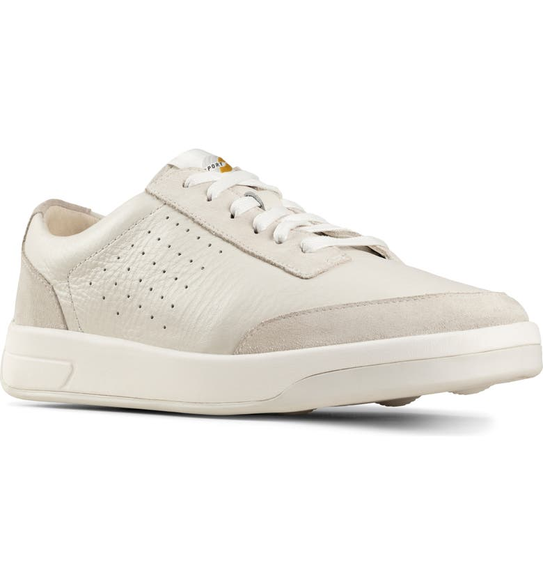 CLARKS<SUP>®</SUP> Hero Air Sneaker, Main, color, WHITE LEATHER