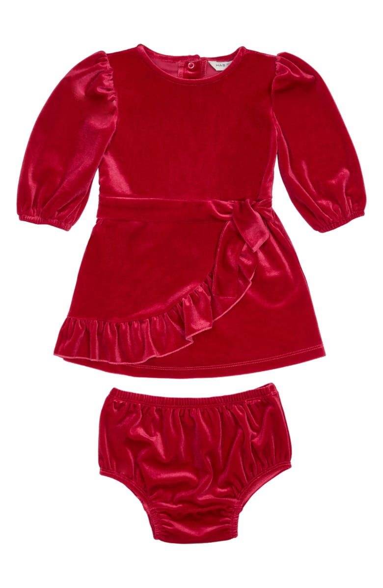 HABITUAL KIDS Habitual Stevie Faux Wrap Velour Dress, Main, color, 659