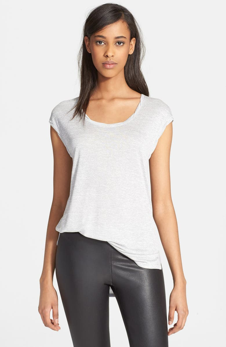 VINCE Twisted Cap Sleeve Tee, Main, color, 020