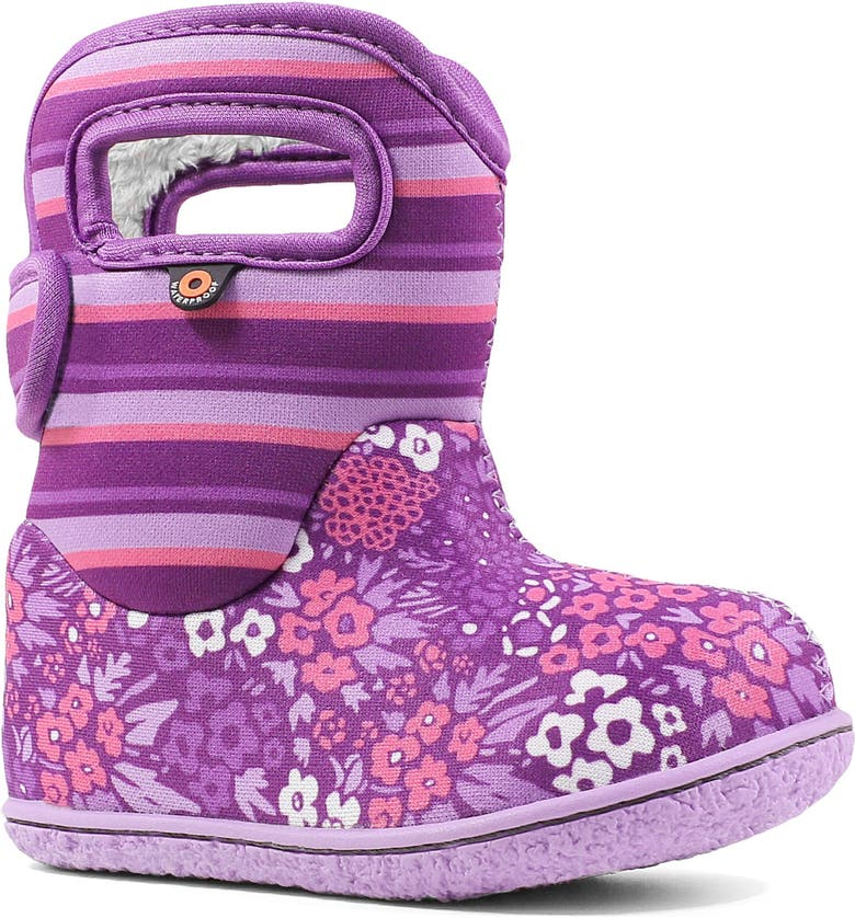 BOGS Baby Bogs Garden Insulated Waterproof Boot, Main, color, PURPLE MULTI