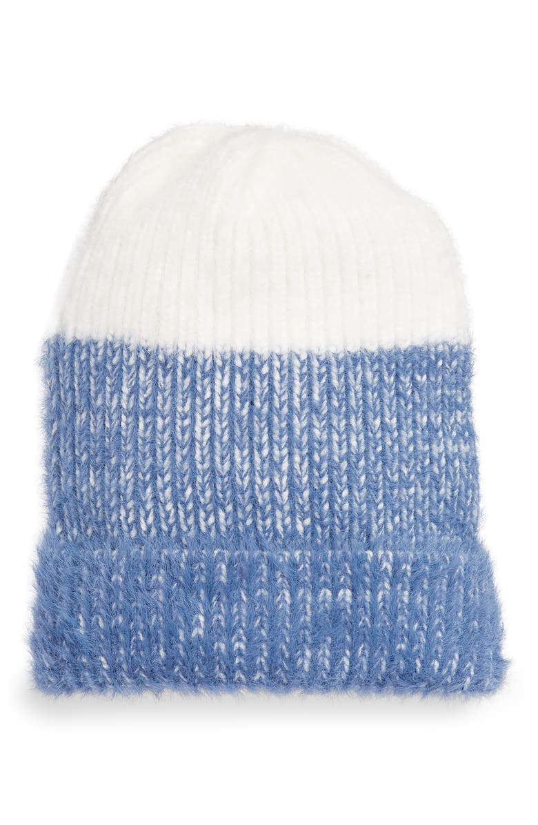 BP. Colorblock Eyelash Beanie, Main, color, 450