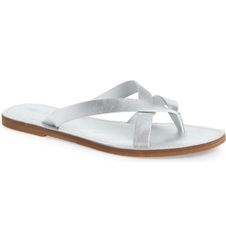 MADEWELL The Boardwalk Risa Flip Flop, Main, color, SILVER