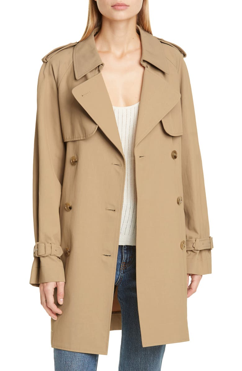 CO Trench Coat, Main, color, BEIGE