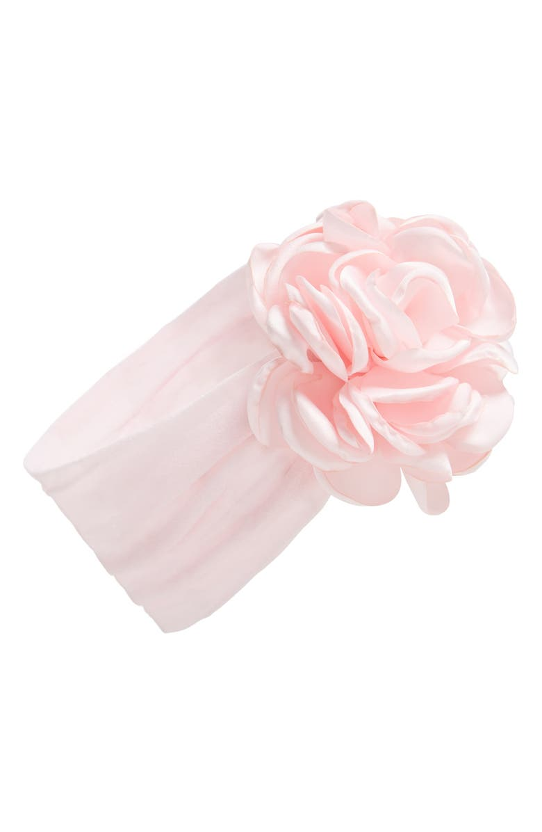 BABY BLING Flower Head Wrap, Main, color, PINK