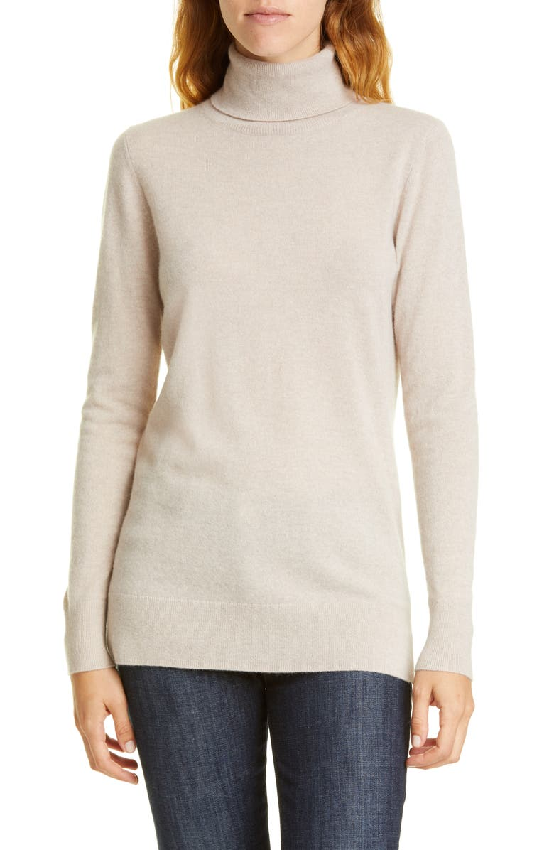 NORDSTROM SIGNATURE Turtleneck Cashmere Sweater, Main, color, 270