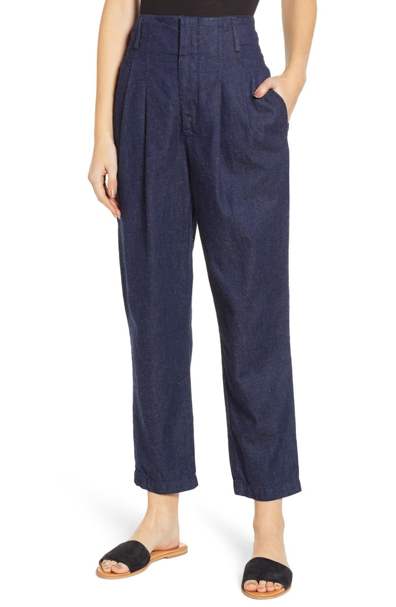 AG Yasmeen Pleated Crop Trousers, Main, color, 422