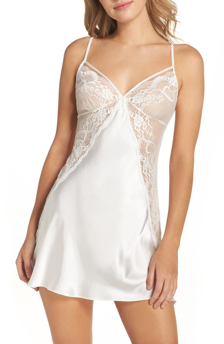 IN BLOOM BY JONQUIL Chemise, Main, color, OFF WHITE