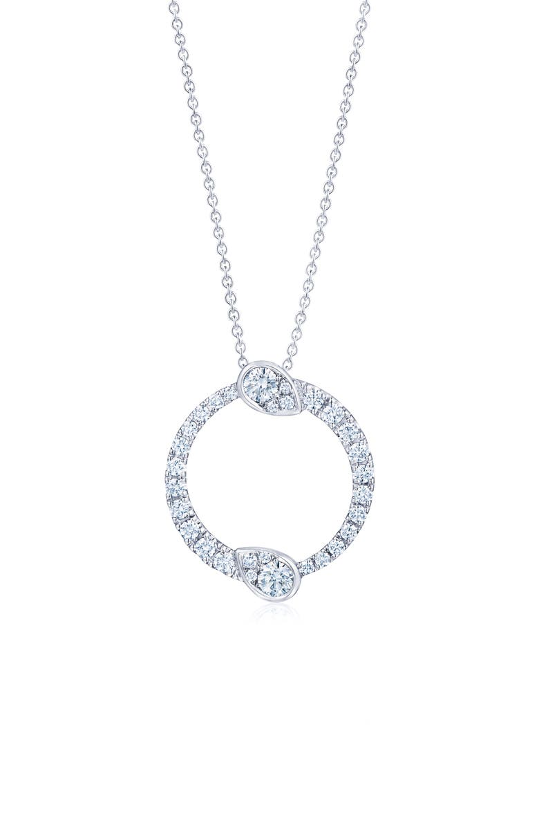 KWIAT Eclipse Yin Yang Diamond Pendant Necklace, Main, color, WHITE GOLD