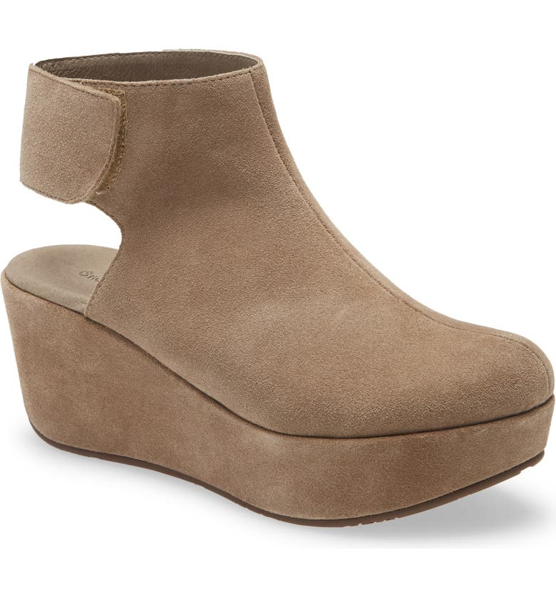 CHOCOLAT BLU Yola Wedge Bootie, Main, color, TAUPE SUEDE