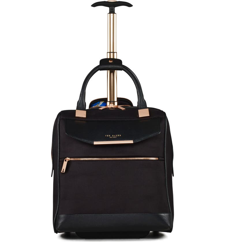 TED BAKER LONDON 16-Inch Trolley Packing Case, Main, color, BLACK