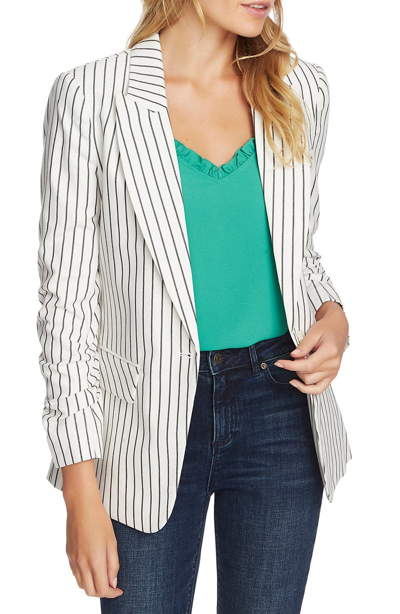 1.STATE Stripe Blazer, Main, color, SOFT ECRU