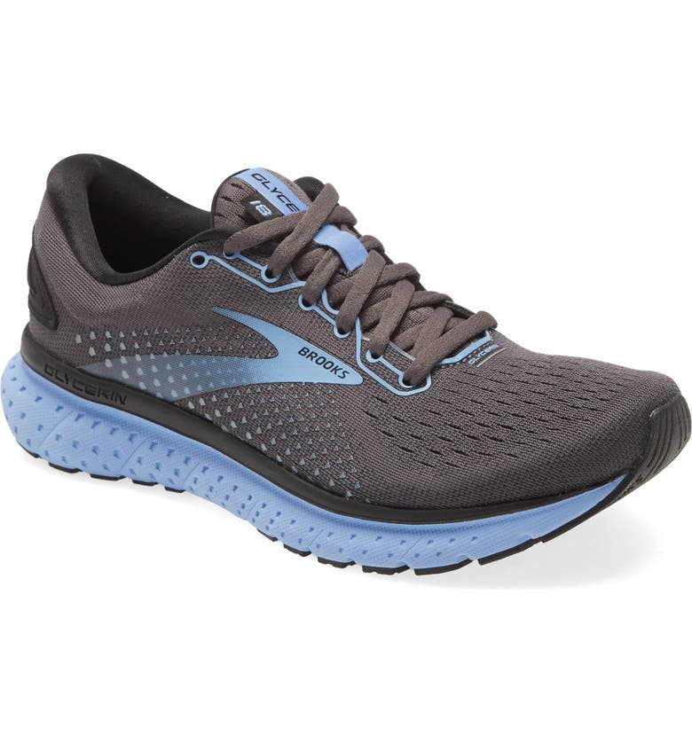 BROOKS Glycerin 18 Running Shoe, Main, color, BLACK/ EBONY/ CORNFLOWER