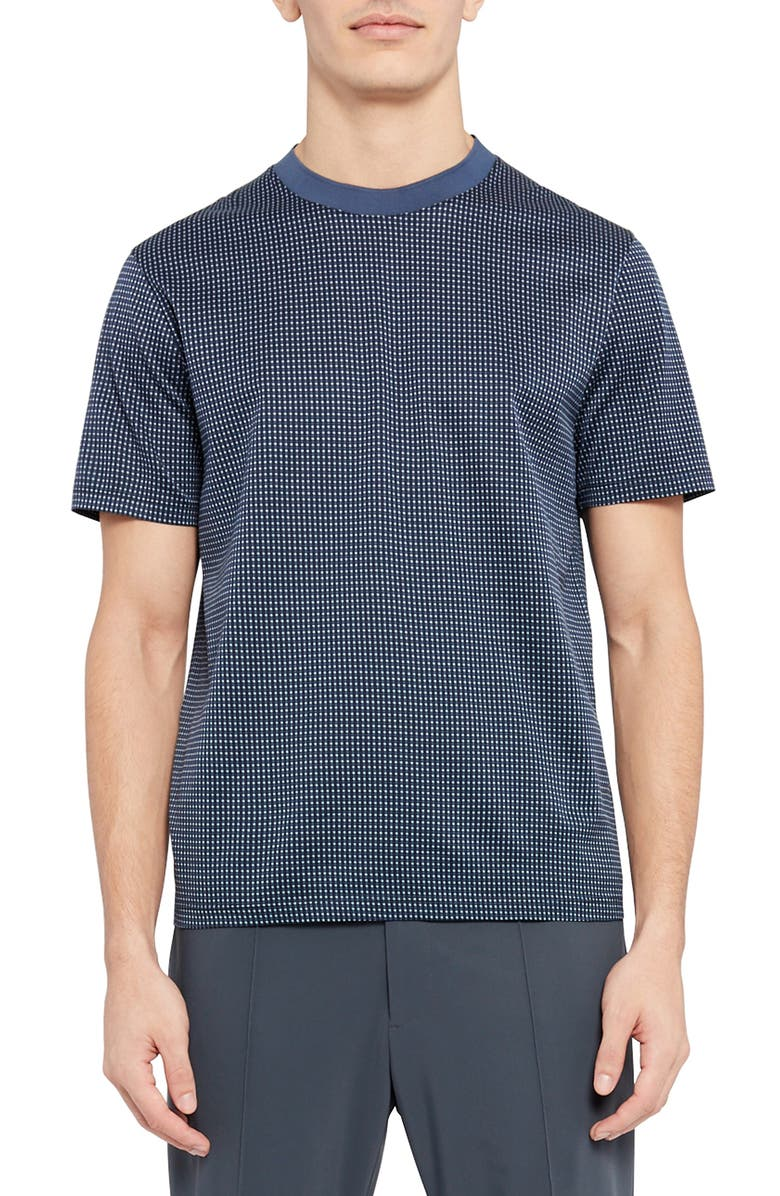 THEORY Grid Dot T-Shirt, Main, color, ASTRAL MULTI
