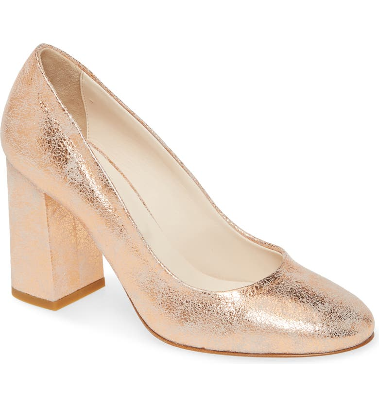 CORDANI Hanette Pump, Main, color, ROSE GOLD SUEDE