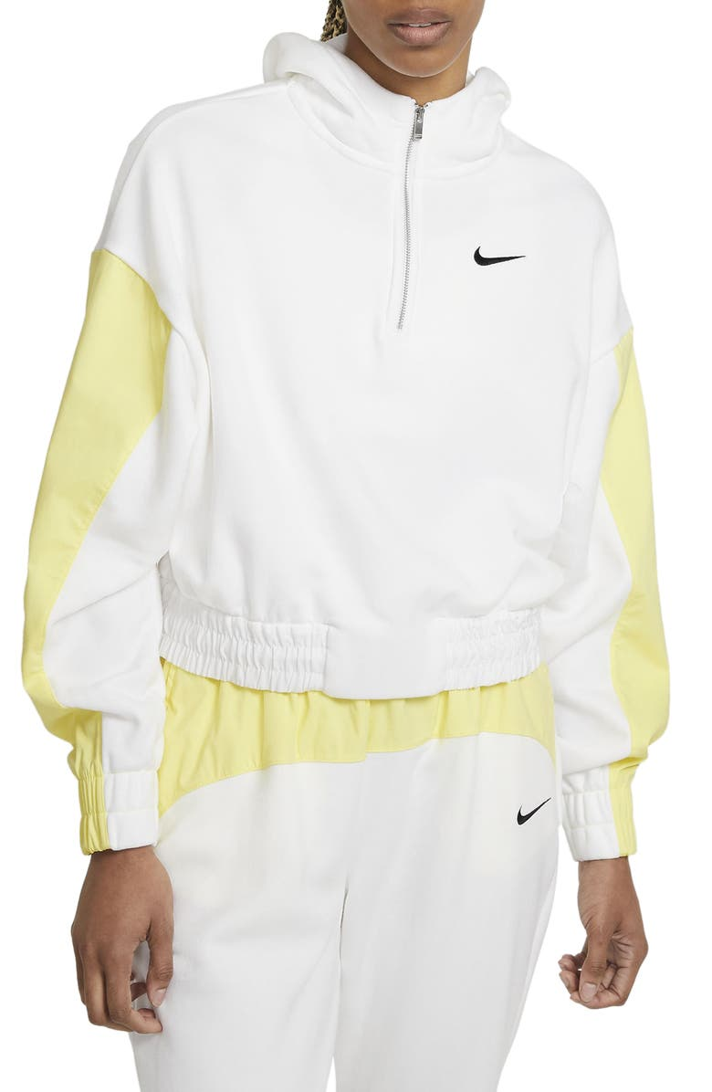 NIKE Sportswear Icon Clash Pullover Hoodie, Main, color, WHITE/ LIGHT YELLOW/ BLACK