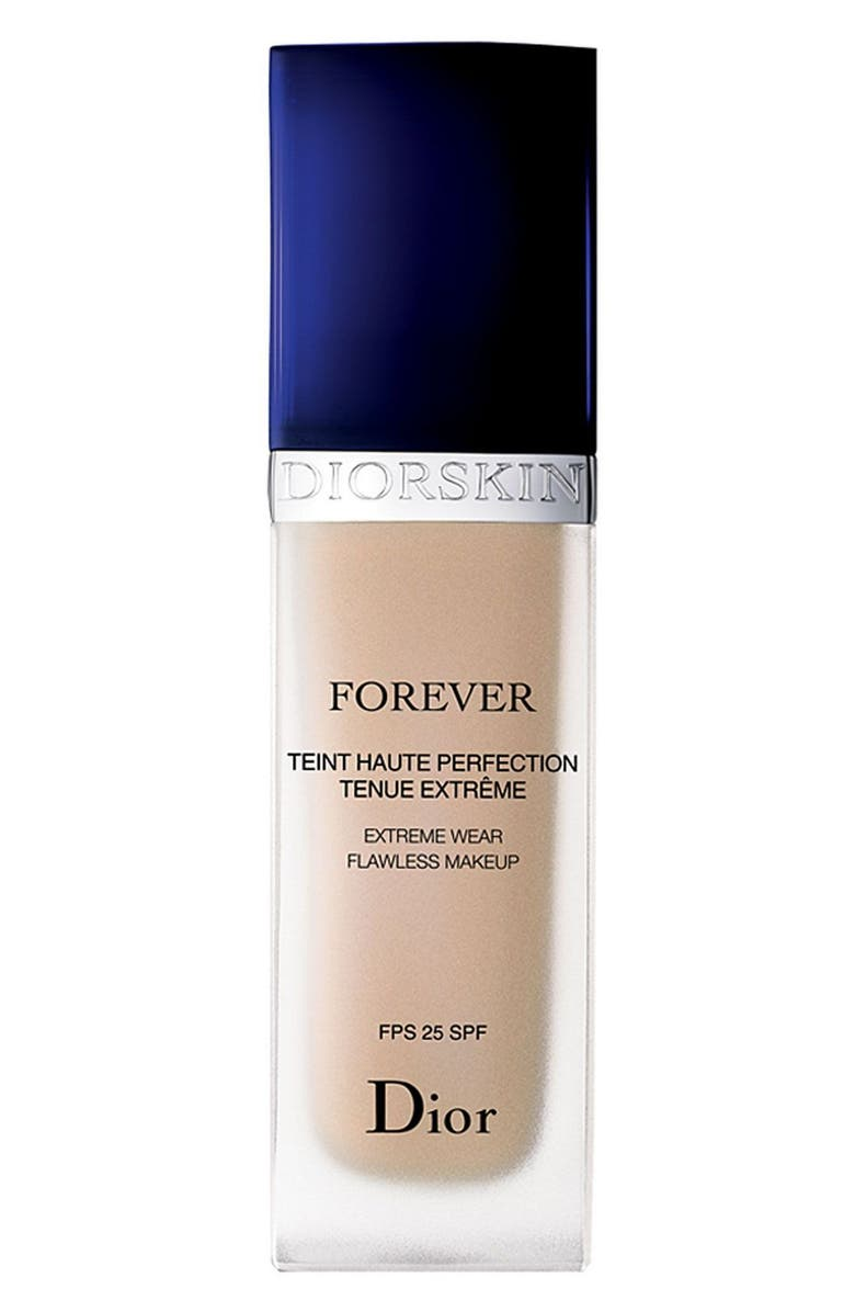 DIOR 'Diorskin Forever' Extreme Wear Flawless Makeup SPF 25, Main, color, 010 IVORY