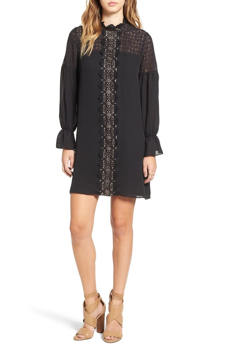 DEVLIN 'Sims' Crochet Shift Dress, Main, color, 250