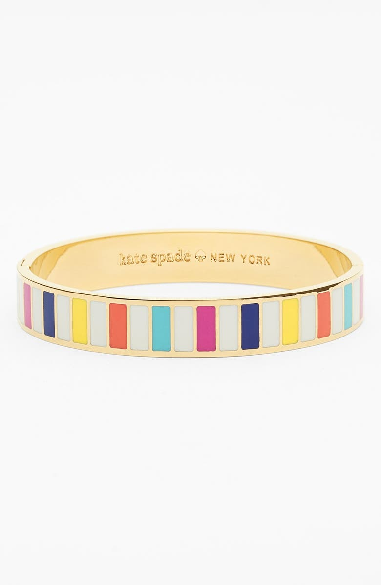 KATE SPADE NEW YORK 'idiom - how do you do?' hinge bangle, Main, color, 650