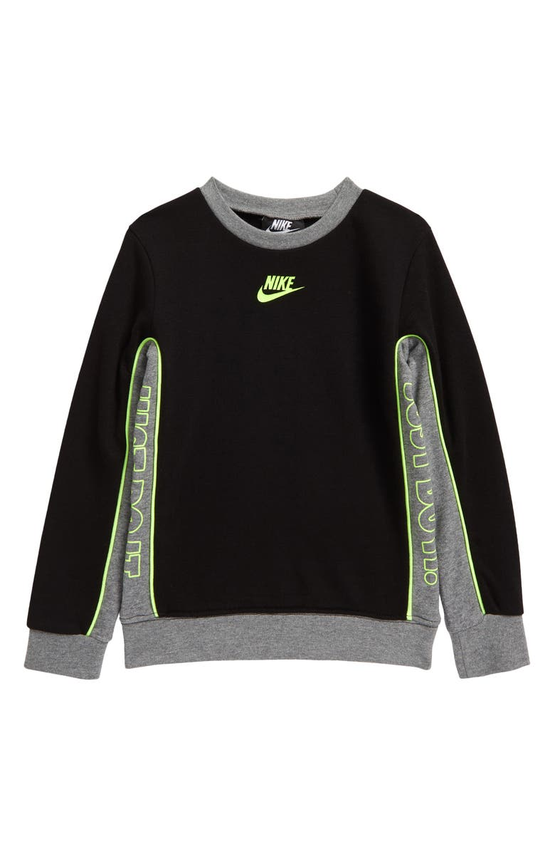 NIKE Kids' JDI See Me Crewneck Sweatshirt, Main, color, BLACK