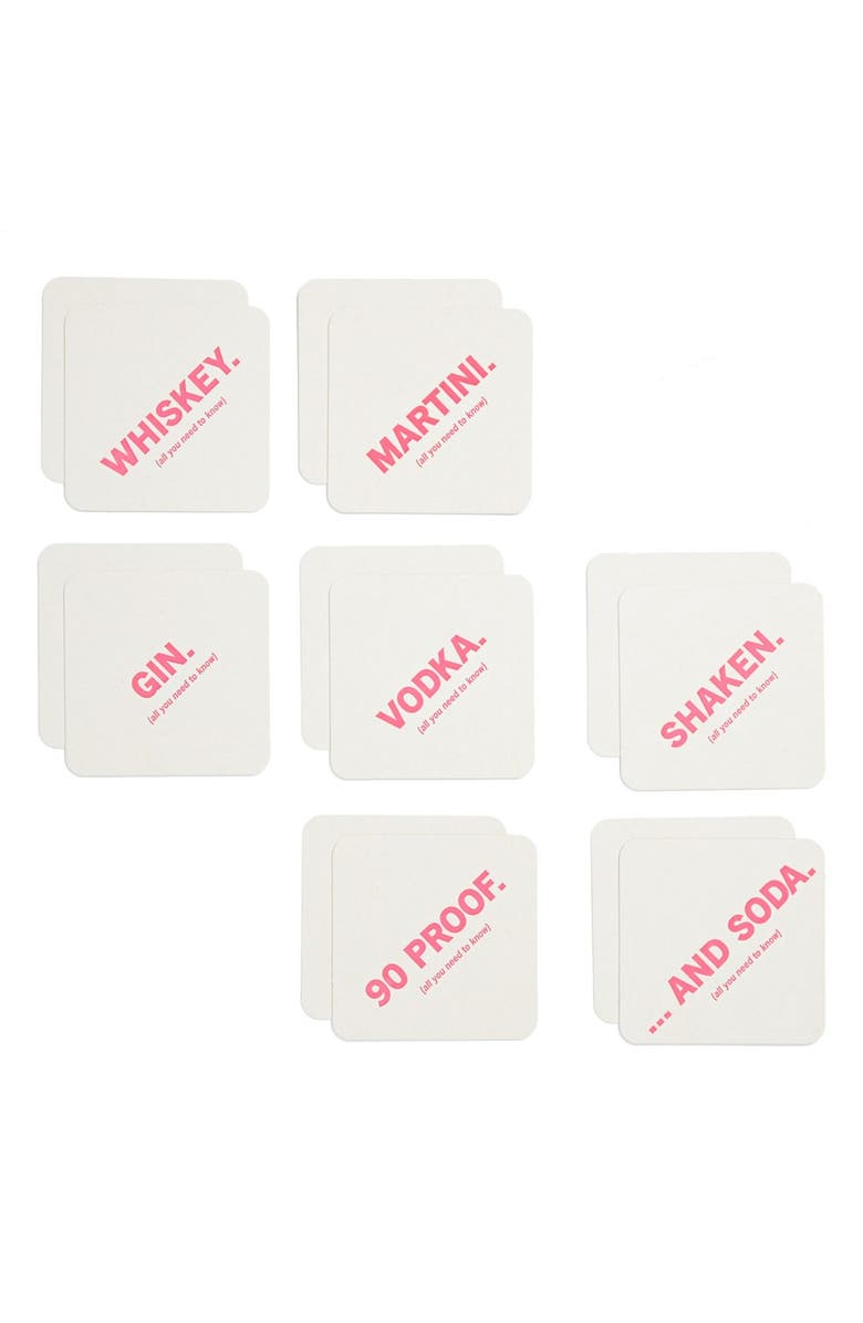 9SPOTMONK 'Cocktails' Coaster Set, Main, color, 100