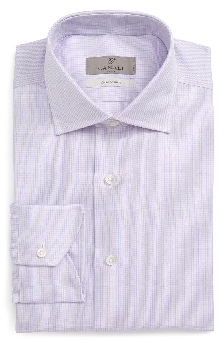 CANALI Slim Fit Solid Dress Shirt, Main, color, 650