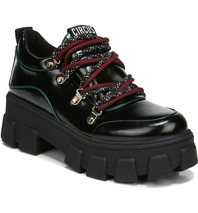 CIRCUS BY SAM EDELMAN Dominique Chunky Loafer, Main, color, BLACK/ GREEN IVY