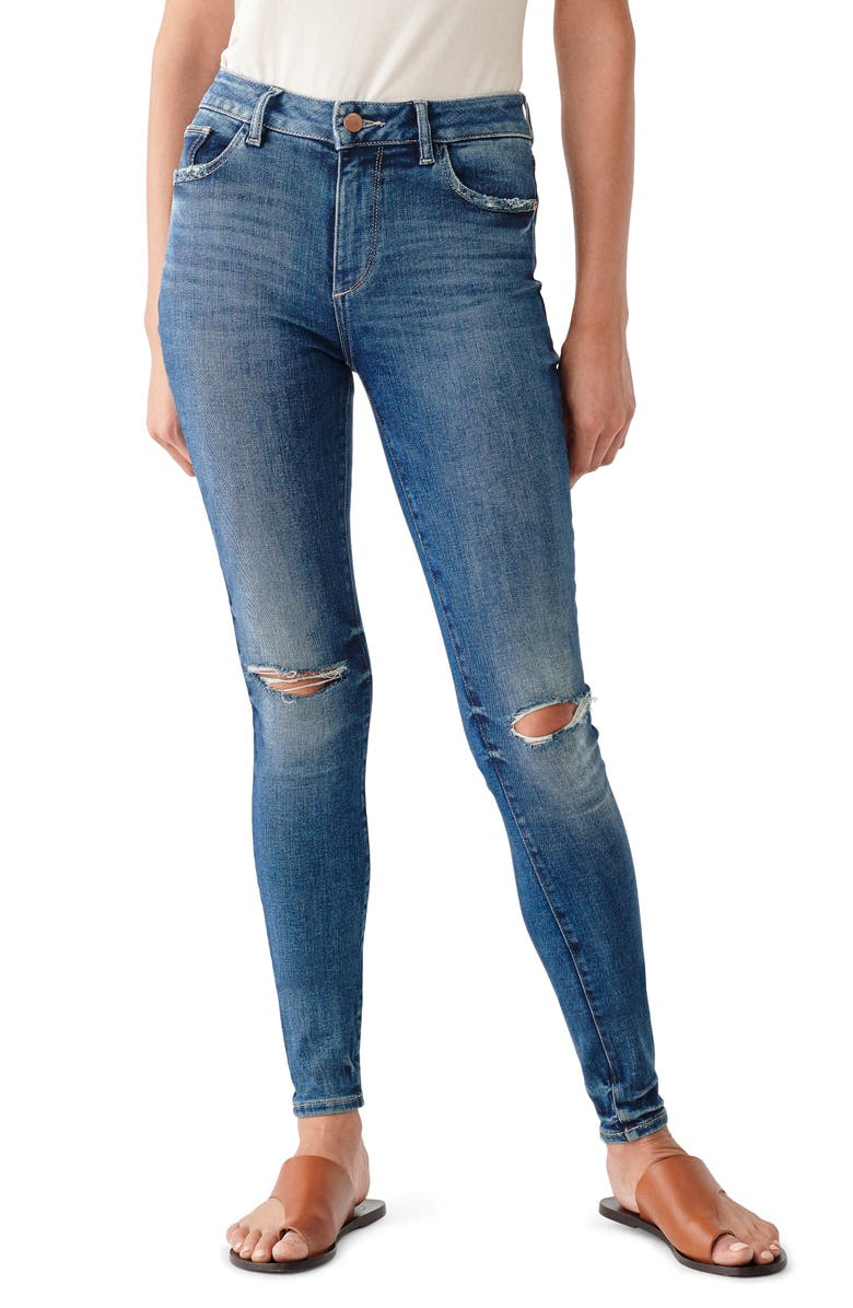 DL 1961 DL1961 Florence Ripped Crop Skinny Jeans, Main, color, PROSPECT