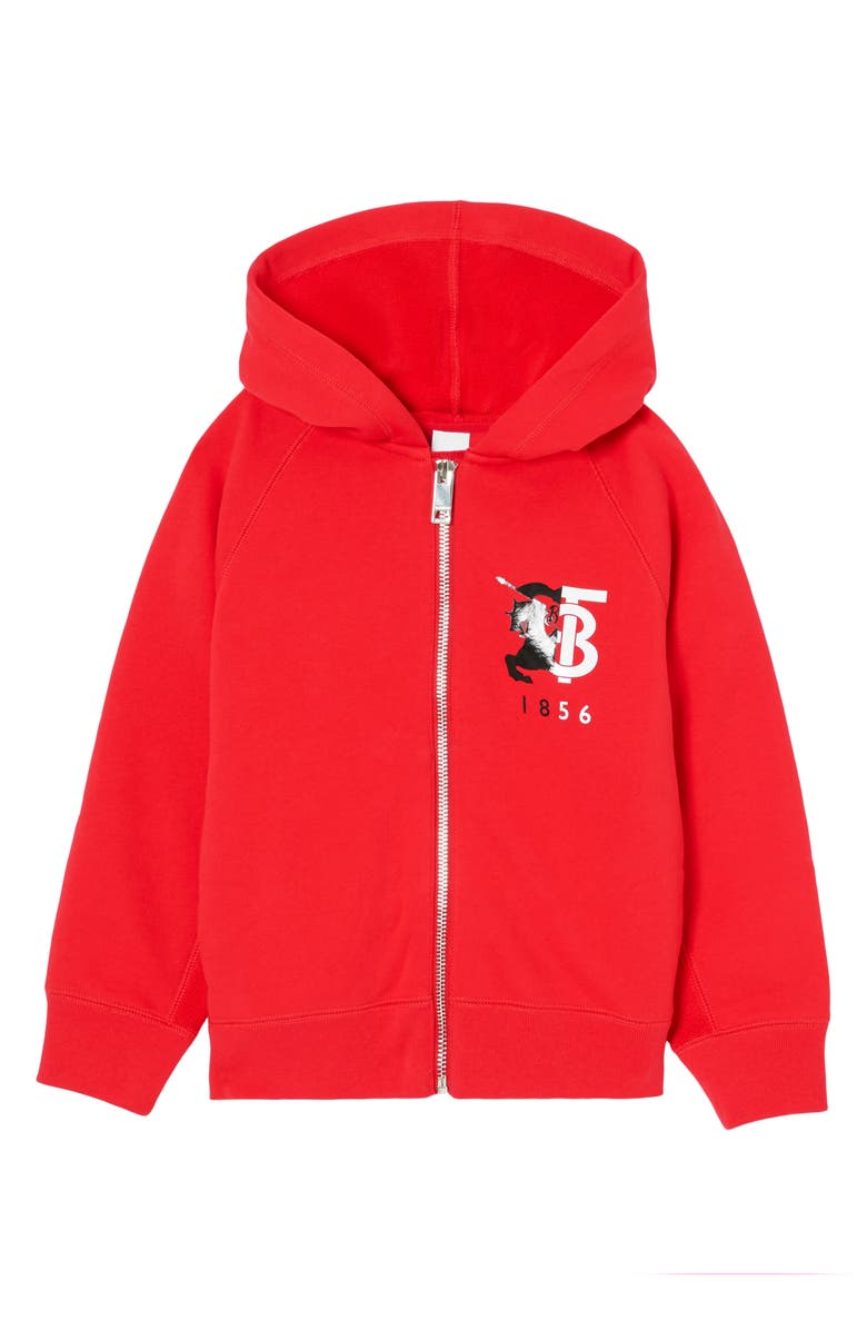 BURBERRY Henry Logo Graphic Cotton Hoodie, Main, color, 600