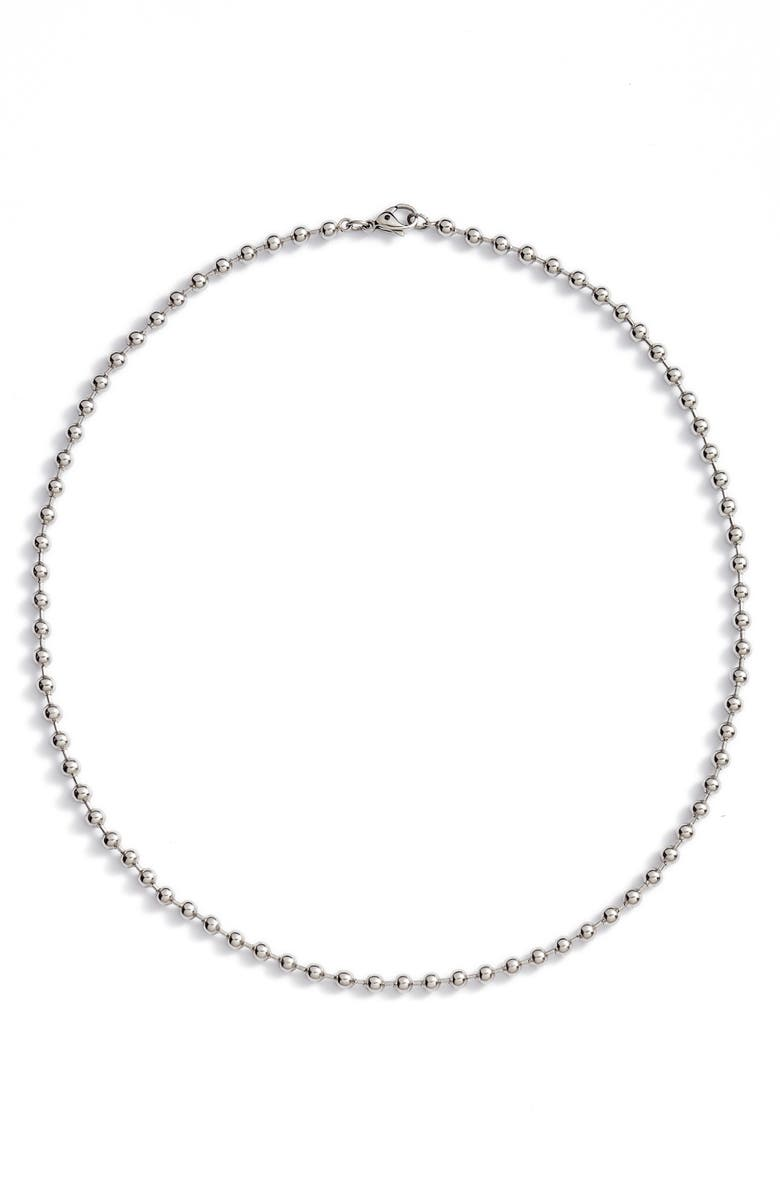 NORDSTROM Shot Bead Necklace, Main, color, Silver