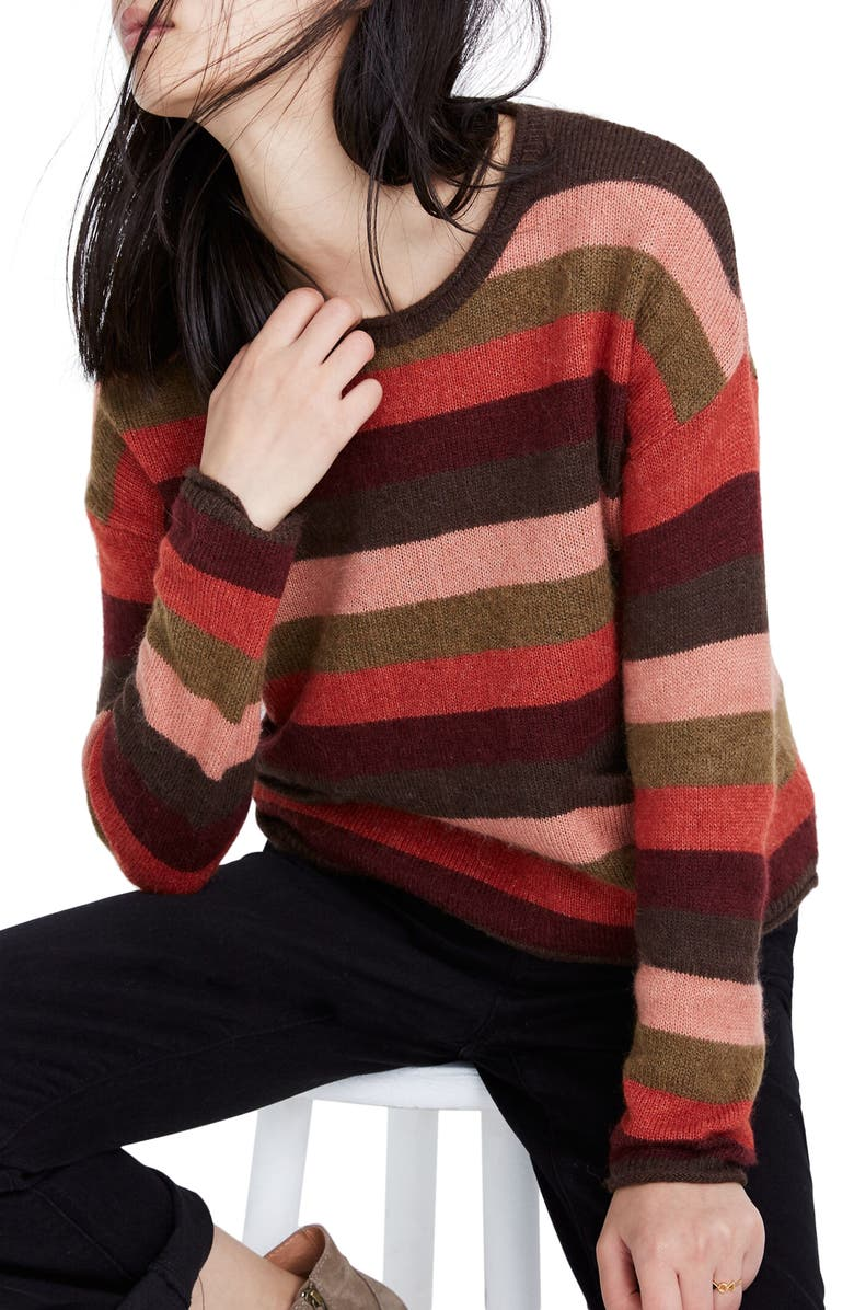 MADEWELL Striped Pocket Pullover, Main, color, 650