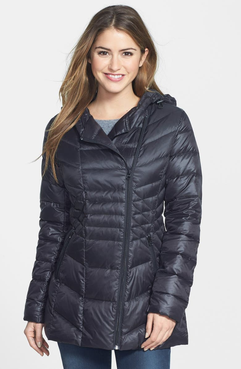 HALOGEN<SUP>®</SUP> Hooded Down & Feather Fill Jacket, Main, color, 001