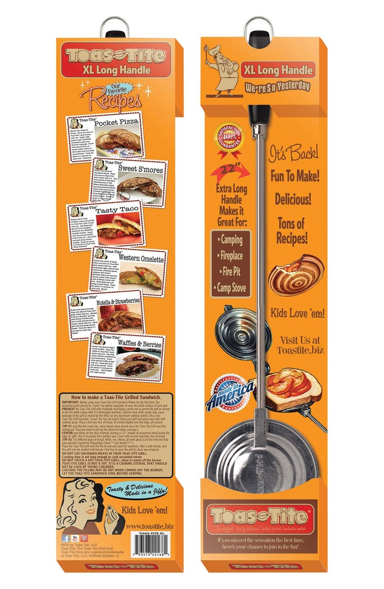 """TOAS-TITE 22"""" Long Handled Pocket Sandwich Grill, X-Large, Main, color, 040"""