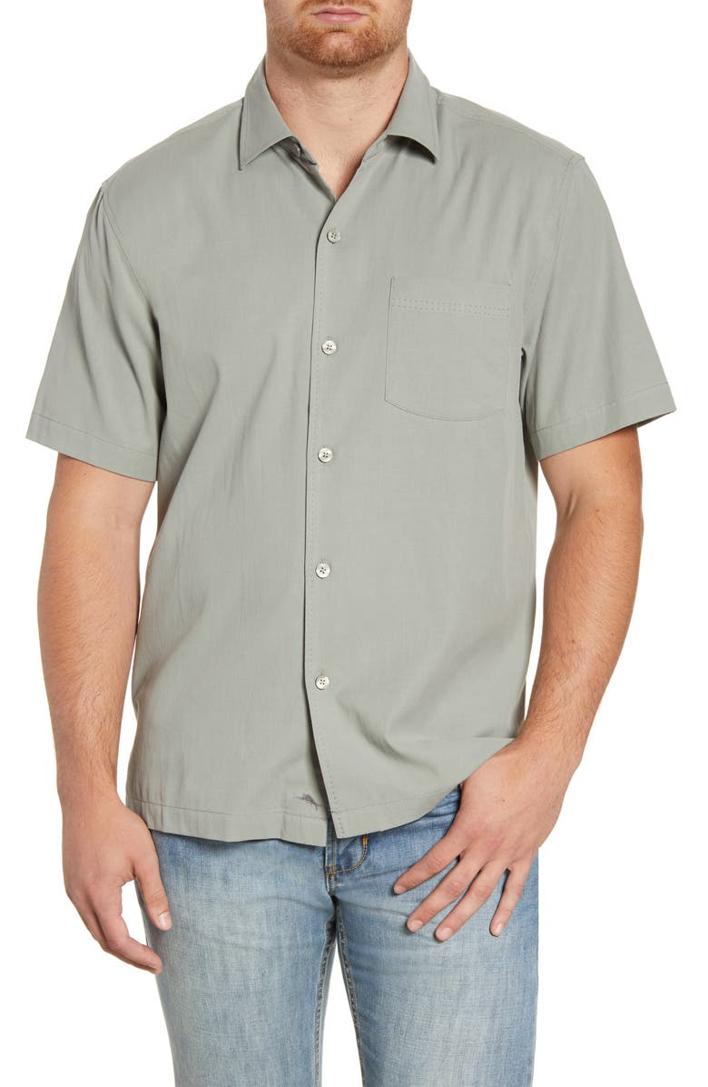TOMMY BAHAMA Catalina Stretch Silk Blend Camp Shirt, Main, color, 050