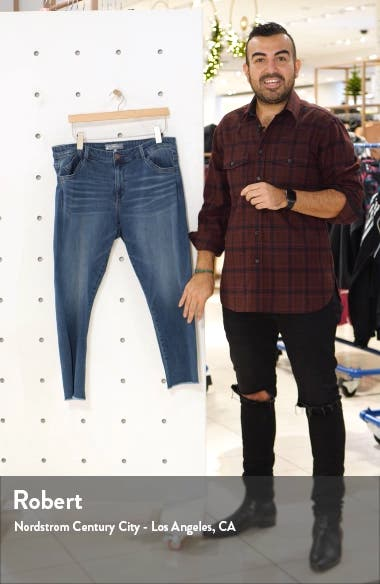 Seamless High Waist Raw Ankle Skimmer Jeans, sales video thumbnail