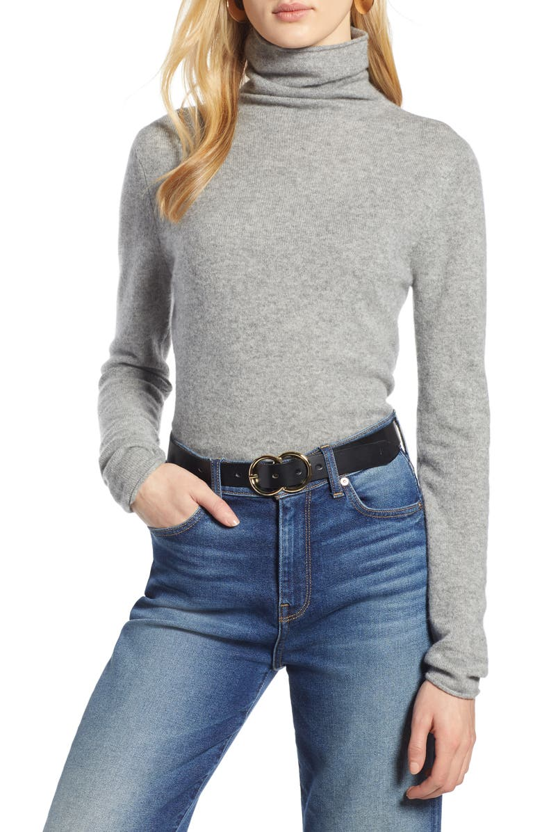 HALOGEN<SUP>®</SUP> Funnel Neck Cashmere Sweater, Main, color, 032