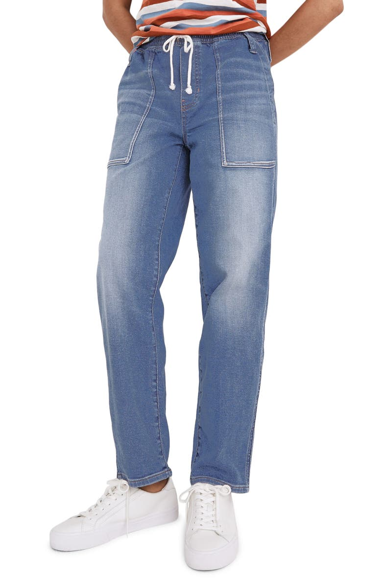 MADEWELL Relaxed Pull-On Jeans, Main, color, BETTS WASH