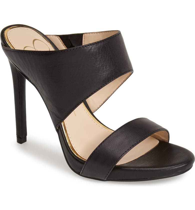 JESSICA SIMPSON 'Romy' Leather Platform Mule, Main, color, 001