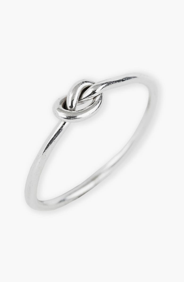 ARGENTO VIVO STERLING SILVER Argento Vivo Mini Knot Ring, Main, color, 040