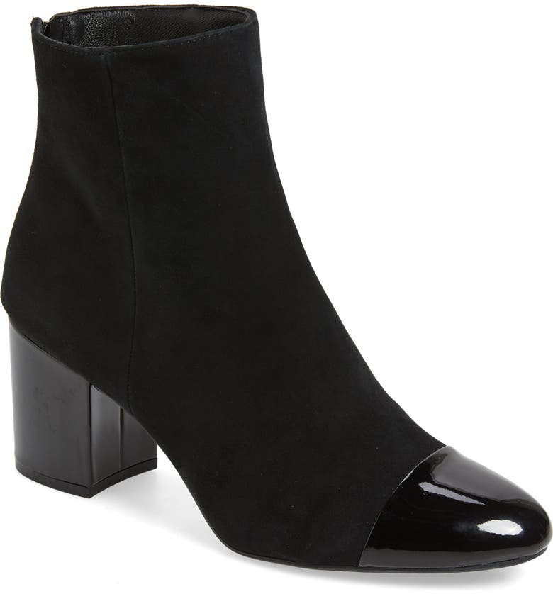 1901 Whitaker Boot, Main, color, BLACK SUEDE/BLACK PATENT