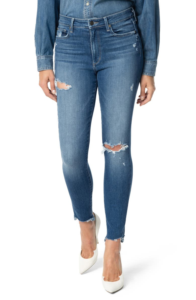 JOE'S The Charlie Ripped Destroyed Hem Ankle Skinny Jeans, Main, color, 400