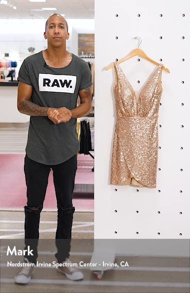 Deep V Sequin Minidress, sales video thumbnail