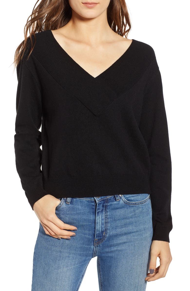 LEITH Double-V Pullover, Main, color, 001