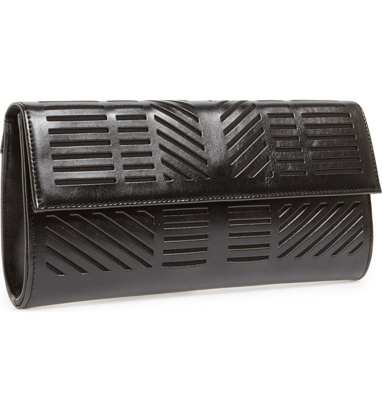 BCBGMAXAZRIA 'Moto' Cutout Clutch, Main, color, 001