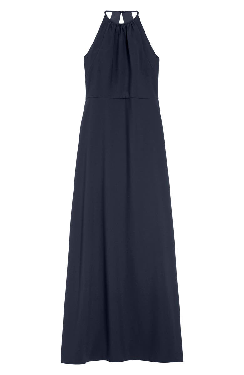 DESSY COLLECTION Dessy Connection High Neck Junior Bridesmaid Dress, Main, color, MIDNIGHT
