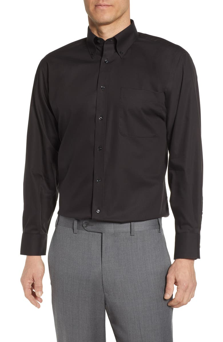 NORDSTROM MEN'S SHOP Nordstrom Classic Fit Non-Iron Dress Shirt, Main, color, BLACK
