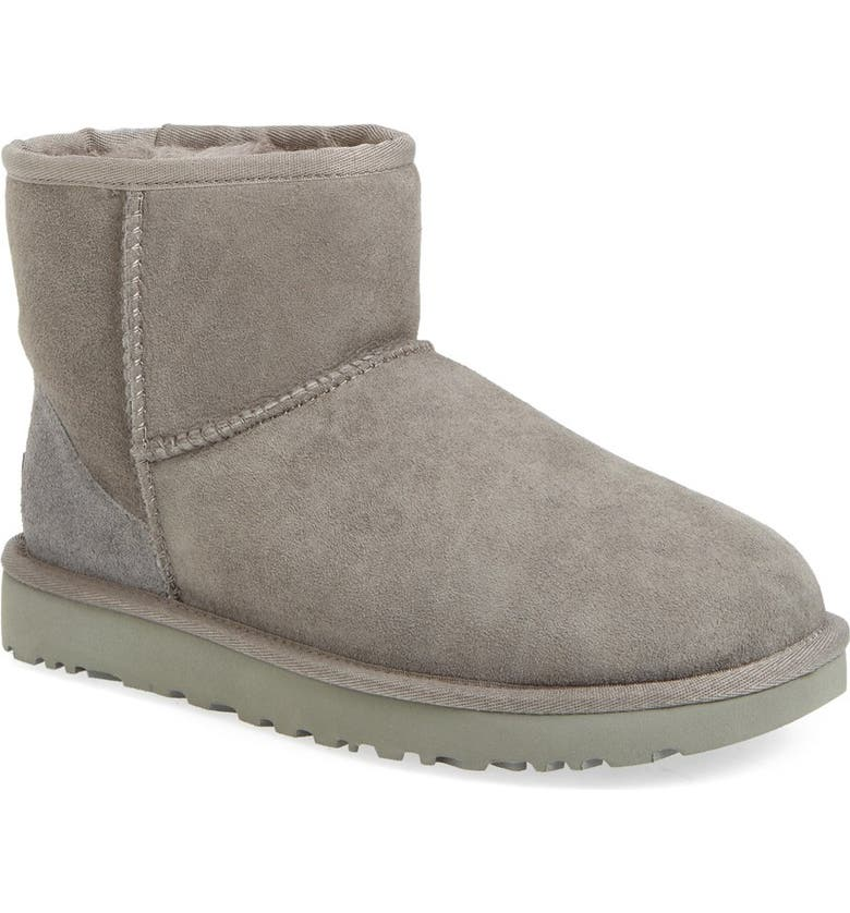 UGG<SUP>®</SUP> Classic Mini II Genuine Shearling Lined Boot, Main, color, GREY SUEDE