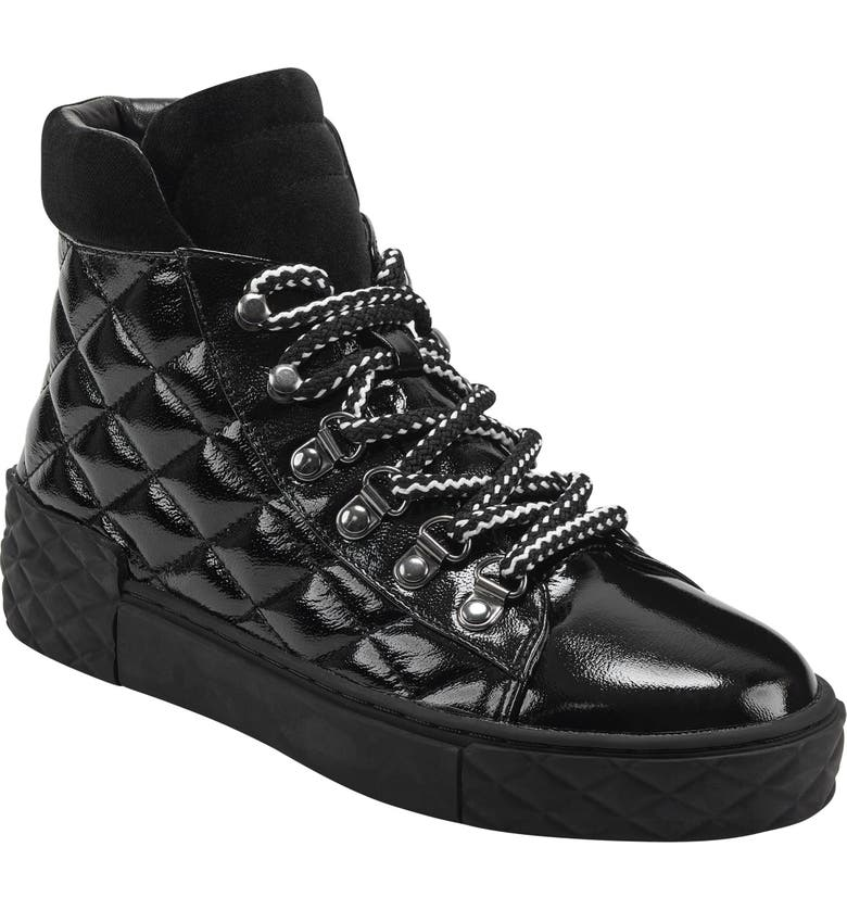MARC FISHER LTD Dulce Lace-Up High Top Sneaker, Main, color, 001